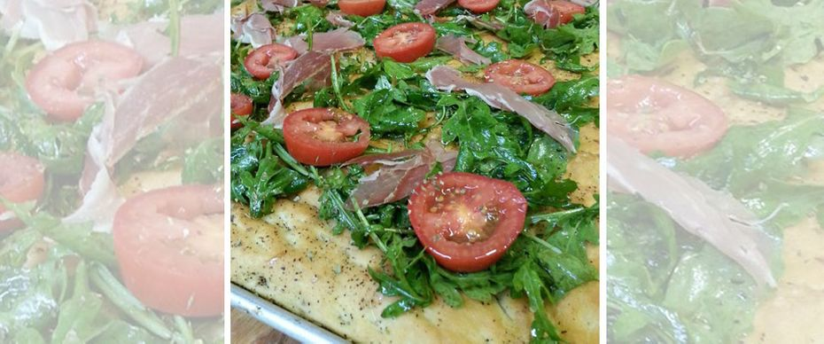 salermo pizza tomate et salade